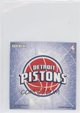 2009-10 Panini Glow-in-the-Dark Team Logo Stickers #8 - Detroit Pistons