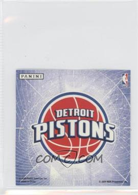 2009-10 Panini Glow-in-the-Dark Team Logo Stickers #8 - Detroit Pistons