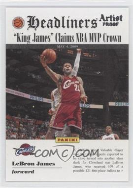 2009-10 Panini Headliners Artist Proof #4 - Lebron James /199