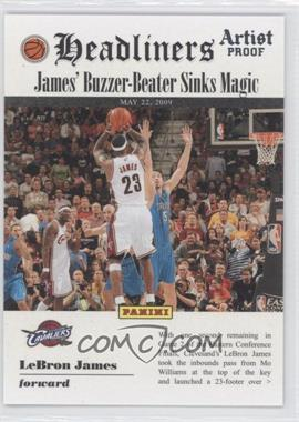 2009-10 Panini Headliners Artist Proof #7 - Lebron James /199