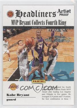 2009-10 Panini Headliners Artist Proof #8 - Kobe Bryant /199