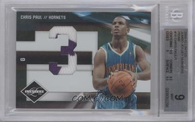 2009-10 Panini Limited Jumbo Jersey Numbers Prime #16 - Chris Paul /1 [BGS 9]