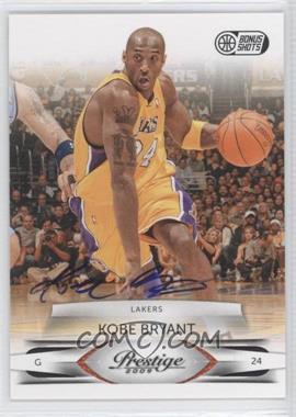 2009-10 Panini Prestige Bonus Shots Black Signatures [Autographed] #46 - Kobe Bryant /25