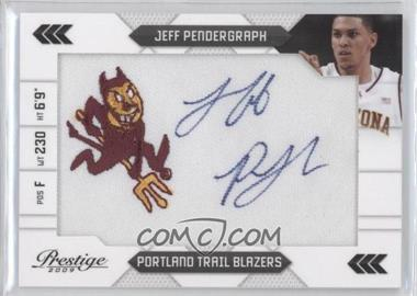2009-10 Panini Prestige NBA Draft Class College Logo Patch Signatures [Autographed] #29 - Jeff Pendergraph /100