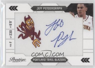 2009-10 Panini Prestige NBA Draft Class College Logo Patch Signatures [Autographed] #29 - Jeff Pendergraph /100