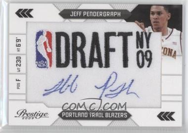 2009-10 Panini Prestige NBA Draft Class Draft Logo Patch Signatures [Autographed] #29 - Jeff Pendergraph /125