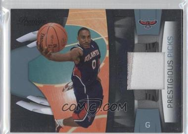 2009-10 Panini Prestige Prestigious Picks Platinum Patches [Memorabilia] #18 - Jeff Teague /25