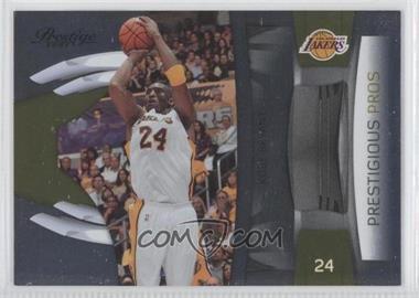 2009-10 Panini Prestige Prestigious Pros Gold #1 - Kobe Bryant /100