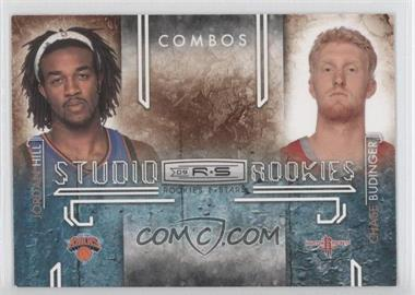 2009-10 Panini Rookies & Stars - Studio Rookies Combos - Black #2 - Jordan Hill, Chase Budinger /100