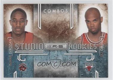 2009-10 Panini Rookies & Stars - Studio Rookies Combos - Black #3 - DeMar DeRozan, Taj Gibson /100