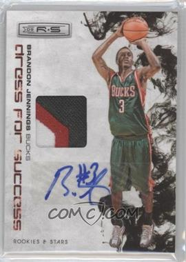 2009-10 Panini Rookies & Stars Dress for Success Materials Prime Signatures [Autographed] #9 - Brandon Jennings /10