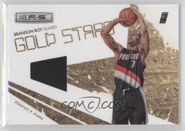 2009-10 Panini Rookies & Stars Gold Stars Materials [Memorabilia] #10 - Brandon Roy