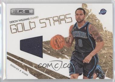 2009-10 Panini Rookies & Stars Gold Stars Materials [Memorabilia] #13 - Deron Williams
