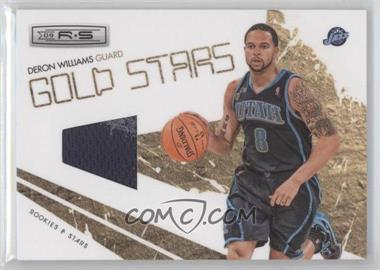 2009-10 Panini Rookies & Stars Gold Stars Materials [Memorabilia] #13 - Deron Williams