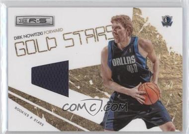 2009-10 Panini Rookies & Stars Gold Stars Materials [Memorabilia] #4 - Dirk Nowitzki