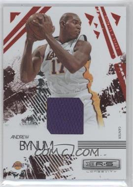 2009-10 Panini Rookies & Stars Longevity Ruby Materials [Memorabilia] #42 - Andrew Bynum /250