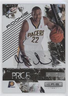2009-10 Panini Rookies & Stars Longevity Signatures [Autographed] #125 - A.J. Price /474