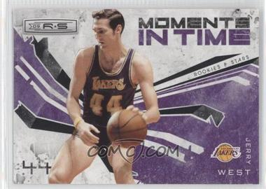 2009-10 Panini Rookies & Stars Moments in Time Black #6 - Jerry West /100
