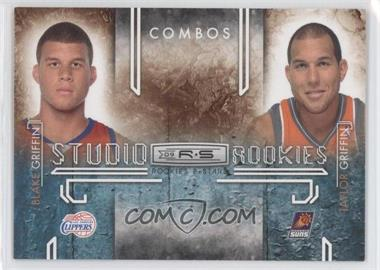 2009-10 Panini Rookies & Stars Studio Rookies Combos Black #1 - Blake Griffin, Taylor Griffin /100