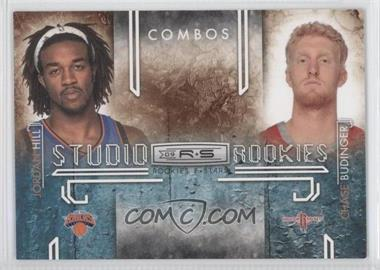 2009-10 Panini Rookies & Stars Studio Rookies Combos Black #2 - Jordan Hill, Chase Budinger /100