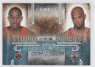 2009-10 Panini Rookies & Stars Studio Rookies Combos Black #3 - DeMar DeRozan, Taj Gibson /100