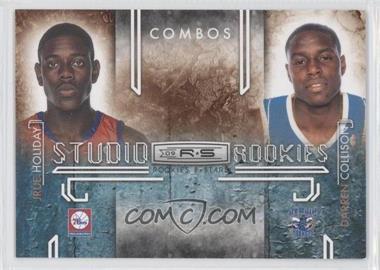 2009-10 Panini Rookies & Stars Studio Rookies Combos Black #6 - Jrue Holiday, Darren Collison /100