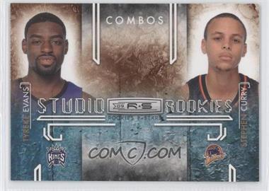 2009-10 Panini Rookies & Stars Studio Rookies Combos Black #9 - Stephen Curry, Tyreke Evans /100