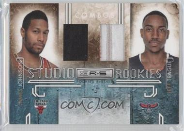 2009-10 Panini Rookies & Stars Studio Rookies Combos Materials Prime [Memorabilia] #5 - James Johnson, Jeff Teague /50