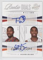 Terrence Williams, Gerald Henderson /99