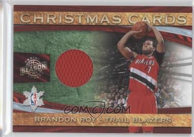 2009-10 Panini Season Update Christmas Cards Materials #5 - Brandon Roy /499