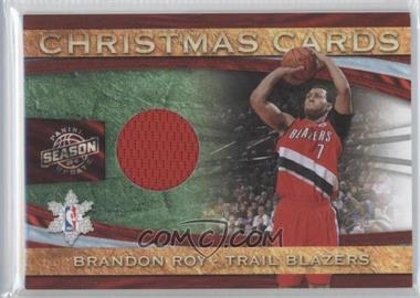 2009-10 Panini Season Update Christmas Cards Materials #5 - Brandon Roy /499