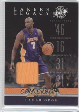 2009-10 Panini Season Update Lakers Legacy Materials [Memorabilia] #9 - Lamar Odom