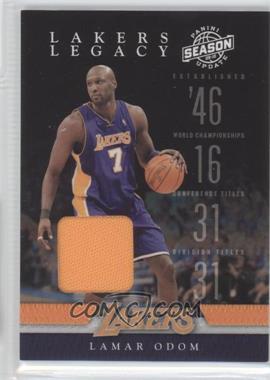 2009-10 Panini Season Update Lakers Legacy Materials [Memorabilia] #9 - Lamar Odom