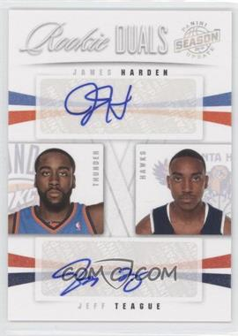 2009-10 Panini Season Update Rookie Duals Signatures #35 - Jeff Teague, James Harden /99