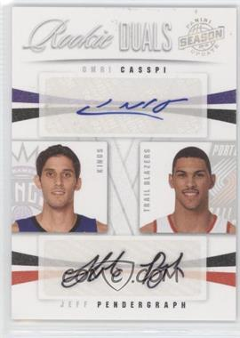 2009-10 Panini Season Update Rookie Duals Signatures #45 - Jeff Pendergraph, Omri Casspi /99