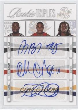 2009-10 Panini Season Update Rookie Triples Signatures #19 - DeJuan Blair, DeMar DeRozan, DeMarre Carroll /49