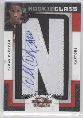 2009-10 Panini Season Update Threads Update Rookie Class Letter Patch Signatures #136 - DeMar DeRozan /700