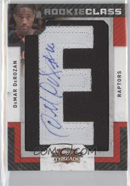 2009-10 Panini Season Update Threads Update Rookie Class Letter Patch Signatures #136 - DeMar DeRozan /700