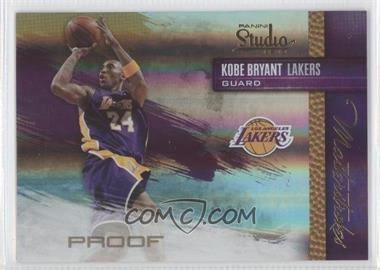 2009-10 Panini Studio Masterstrokes Proofs #10 - Kobe Bryant /199