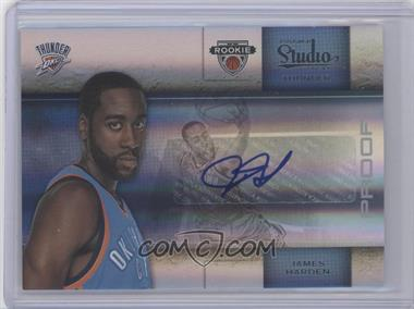 2009-10 Panini Studio Proofs Silver Signatures #135 - James Harden /49