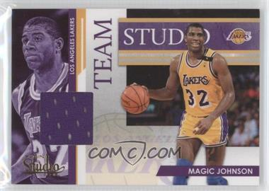 2009-10 Panini Studio Team Studio Materials [Memorabilia] #14 - Magic Johnson, Kareem Abdul-Jabbar /249