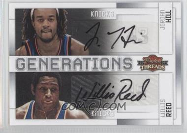 2009-10 Panini Threads - Generations - Signatures [Autographed] #7 - Jordan Hill, Willis Reed /50