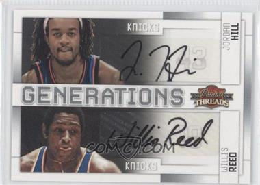 2009-10 Panini Threads Generations Signatures [Autographed] #7 - Jordan Hill, Willis Reed /50
