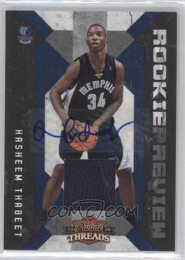 2009-10 Panini Threads Rookie Preview Materials Signatures [Autographed] #2 - Hasheem Thabeet /50