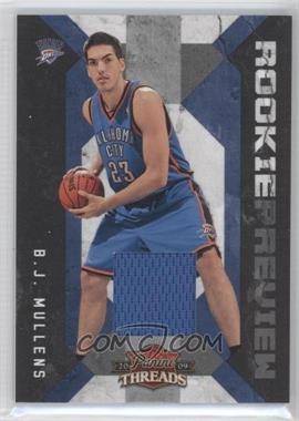 2009-10 Panini Threads Rookie Preview Materials #22 - B.J. Mullens /100