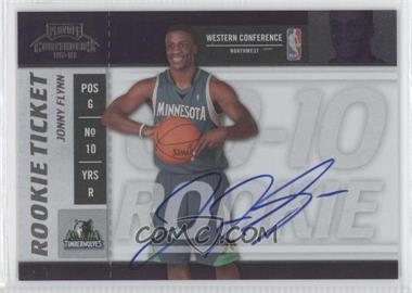 2009-10 Playoff Contenders - [Base] #105 - Rookie Ticket - Jonny Flynn