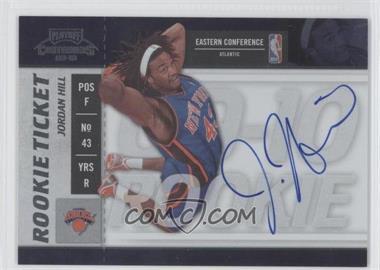 2009-10 Playoff Contenders - [Base] #107 - Rookie Ticket - Jordan Hill