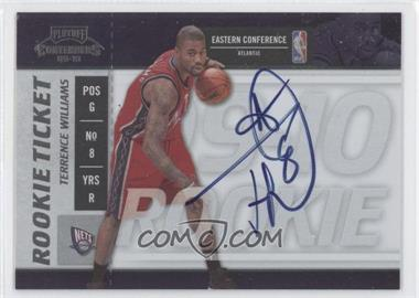 2009-10 Playoff Contenders - [Base] #109 - Rookie Ticket - Terrence Williams