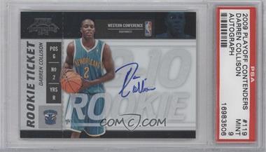 2009-10 Playoff Contenders - [Base] #119 - Rookie Ticket - Darren Collison [PSA9]