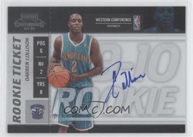 2009-10 Playoff Contenders - [Base] #119 - Rookie Ticket - Darren Collison